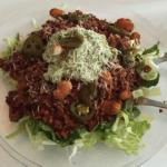 Chili con carne m. spidskålsbund